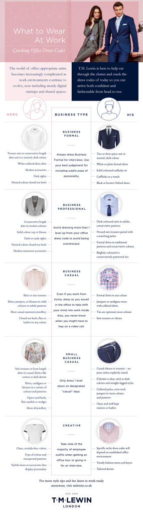 TM Lewin: What to wear to work