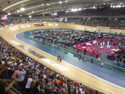 Olympic Velodrome - London - Sunday 7 June 2015 - Bradley Wiggins breaking the world record